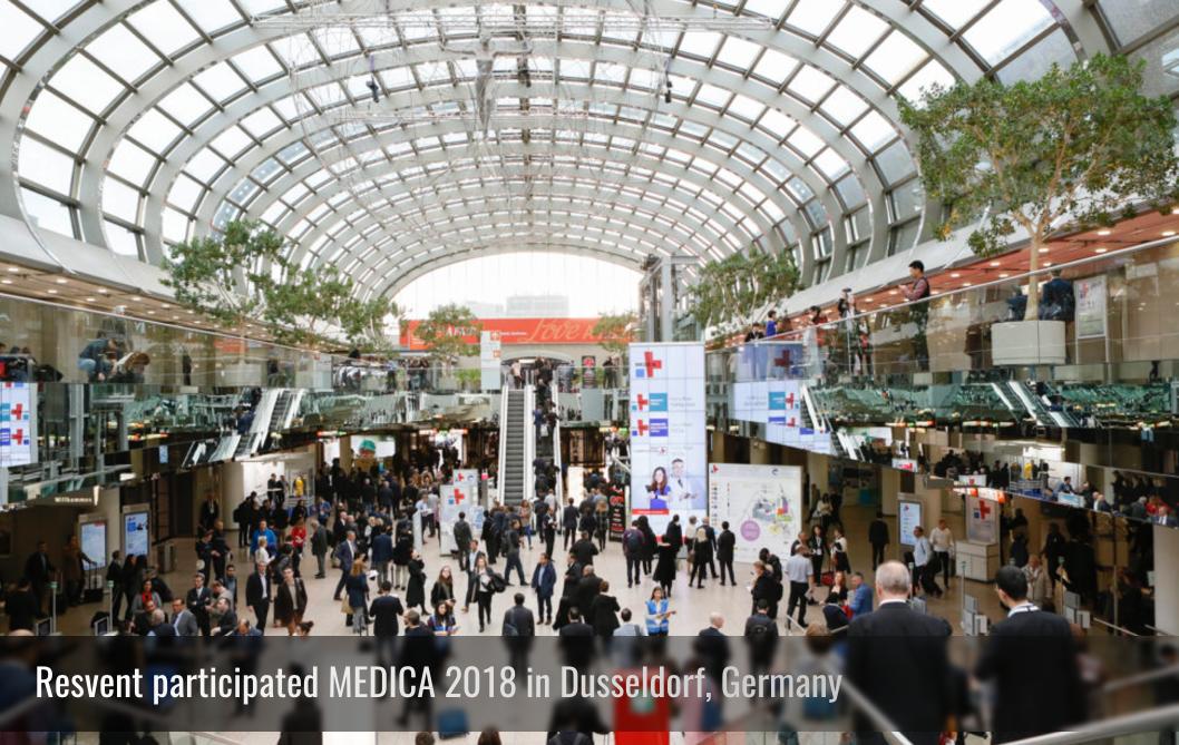 Resvent participated MEDICA 2018 in Dusseldorf, Germany